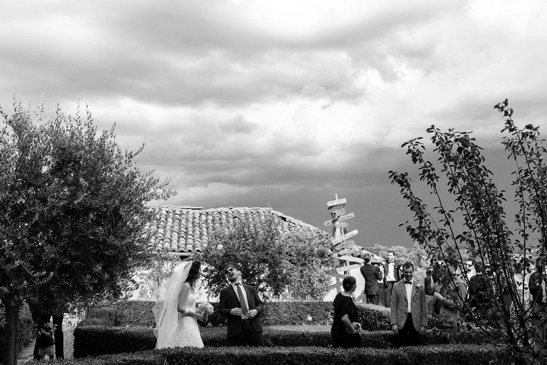 Temporale Matrimonio Giardino Abazzia Benedettina