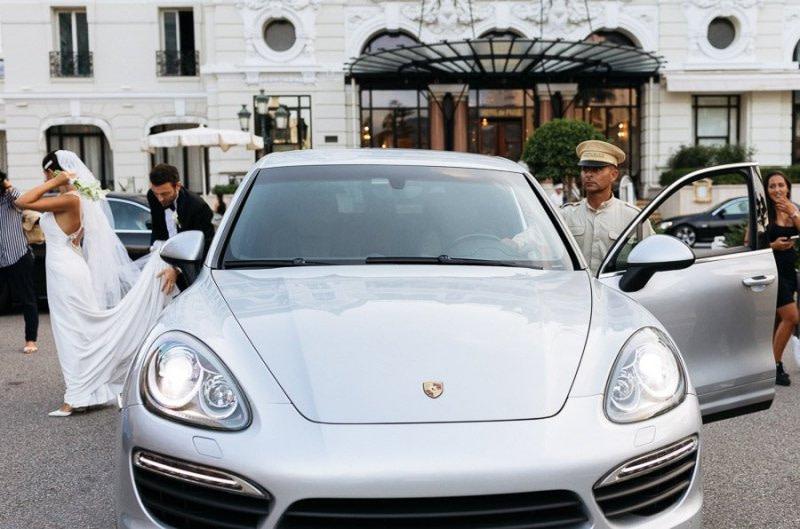 Porshe Wedding Car