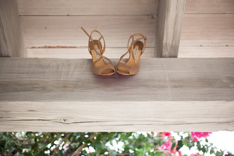 Bride shoes Balearic Wedding