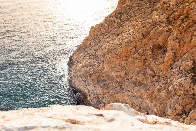 Sunset on Formentera Cliffs