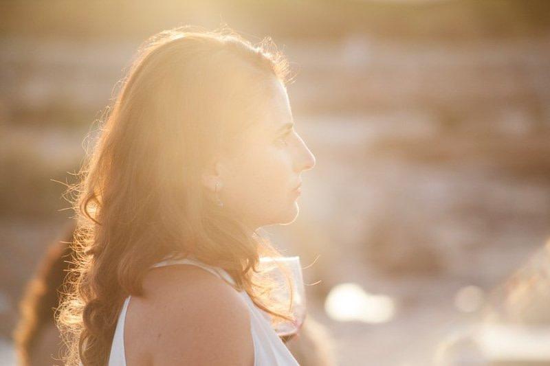 Sunset light portrait