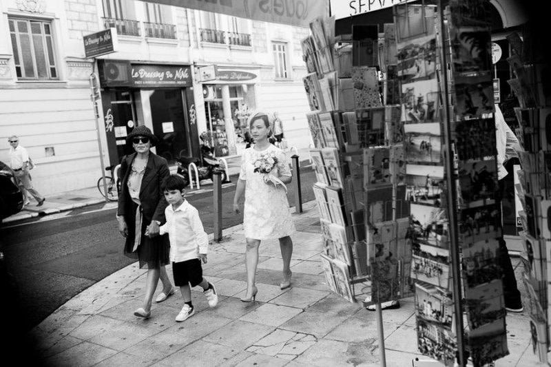 Bride in Nice Rue de France