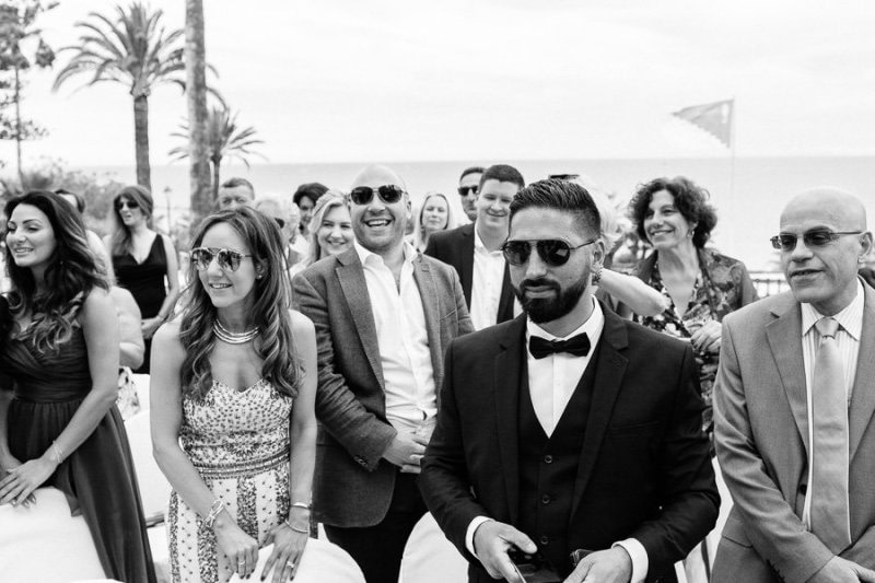 Wedding guests Sanremo