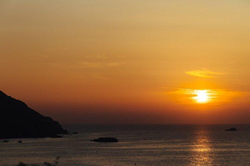 Sunset in Villanova Corse