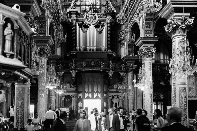 Santa Margherita Ligure Main Church Interior wedding
