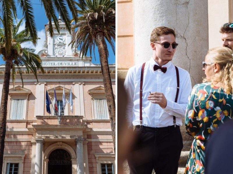 Wedding guests Mairie Ajaccio